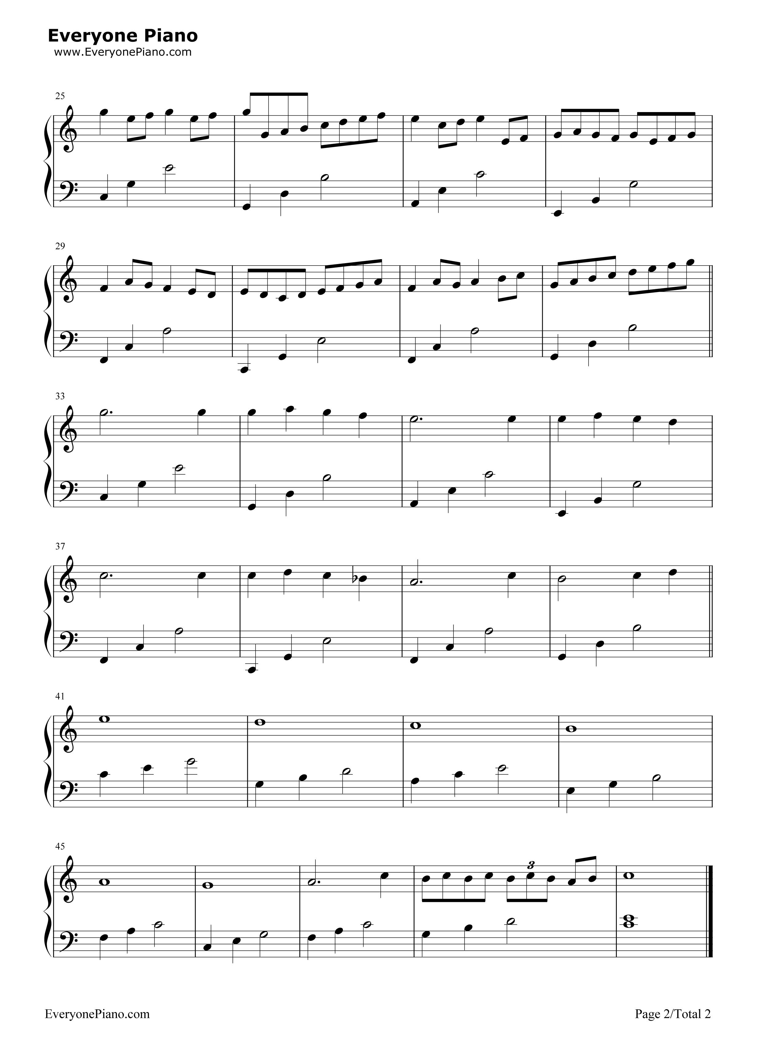 钢琴曲谱 经典 卡农-canon-c大调初学者版 卡农-canon-c大调初学者版