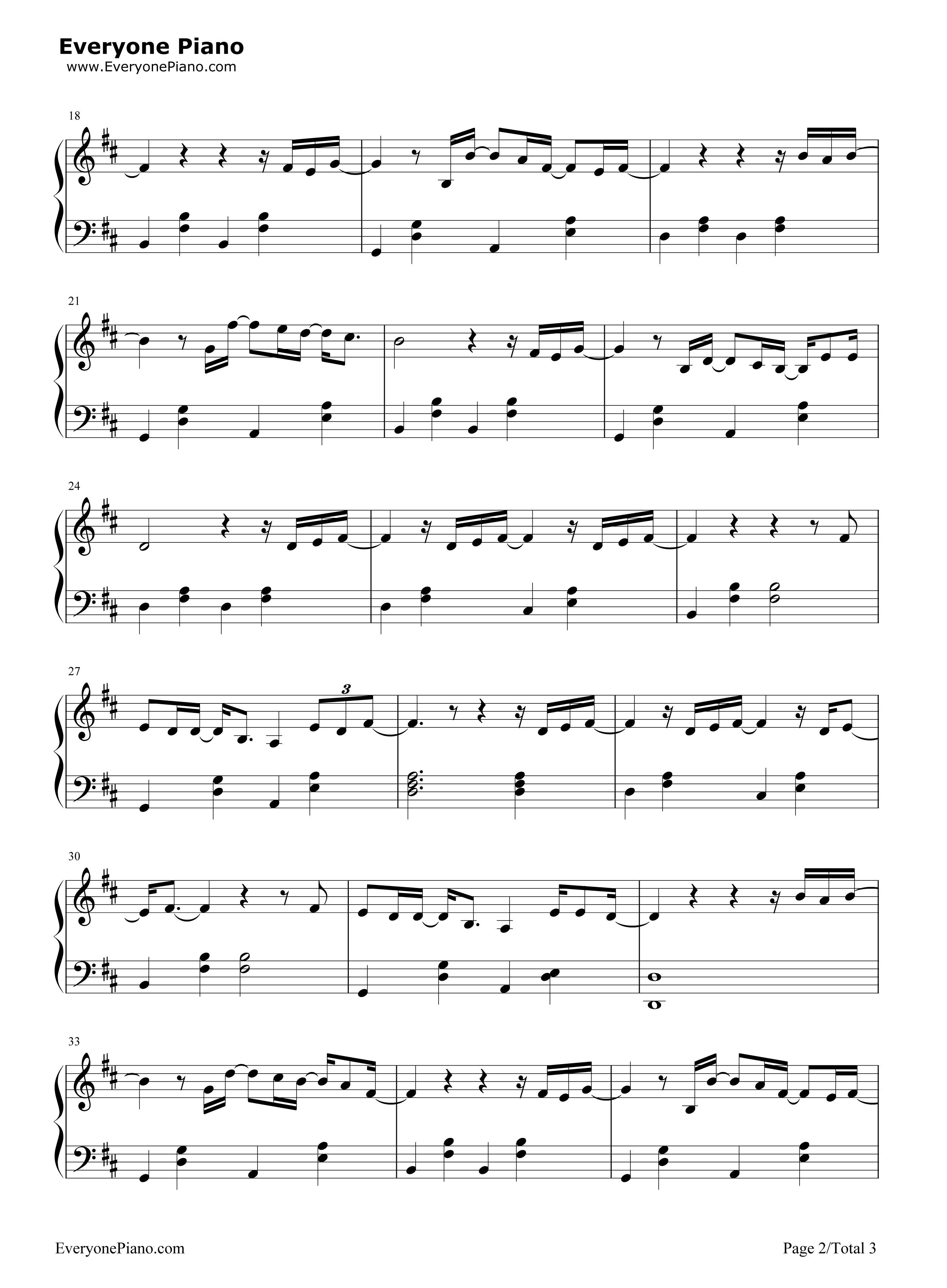 别-薛之谦五线谱预览2-钢琴谱档(五线谱,双手简谱,数
