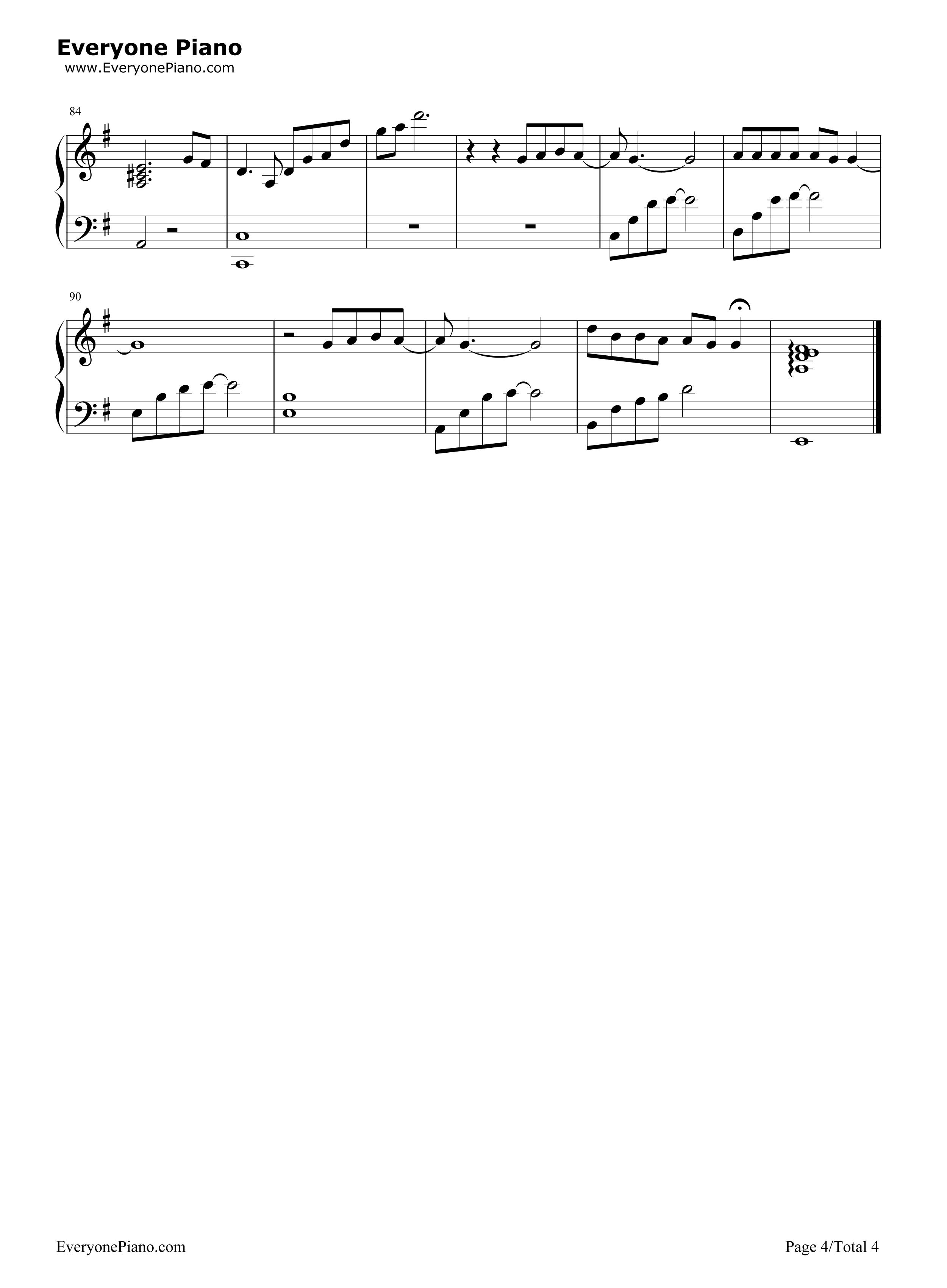 钢琴曲谱 流行 十二月的奇迹-简易版 十二月的奇迹-简易版五线谱预览4