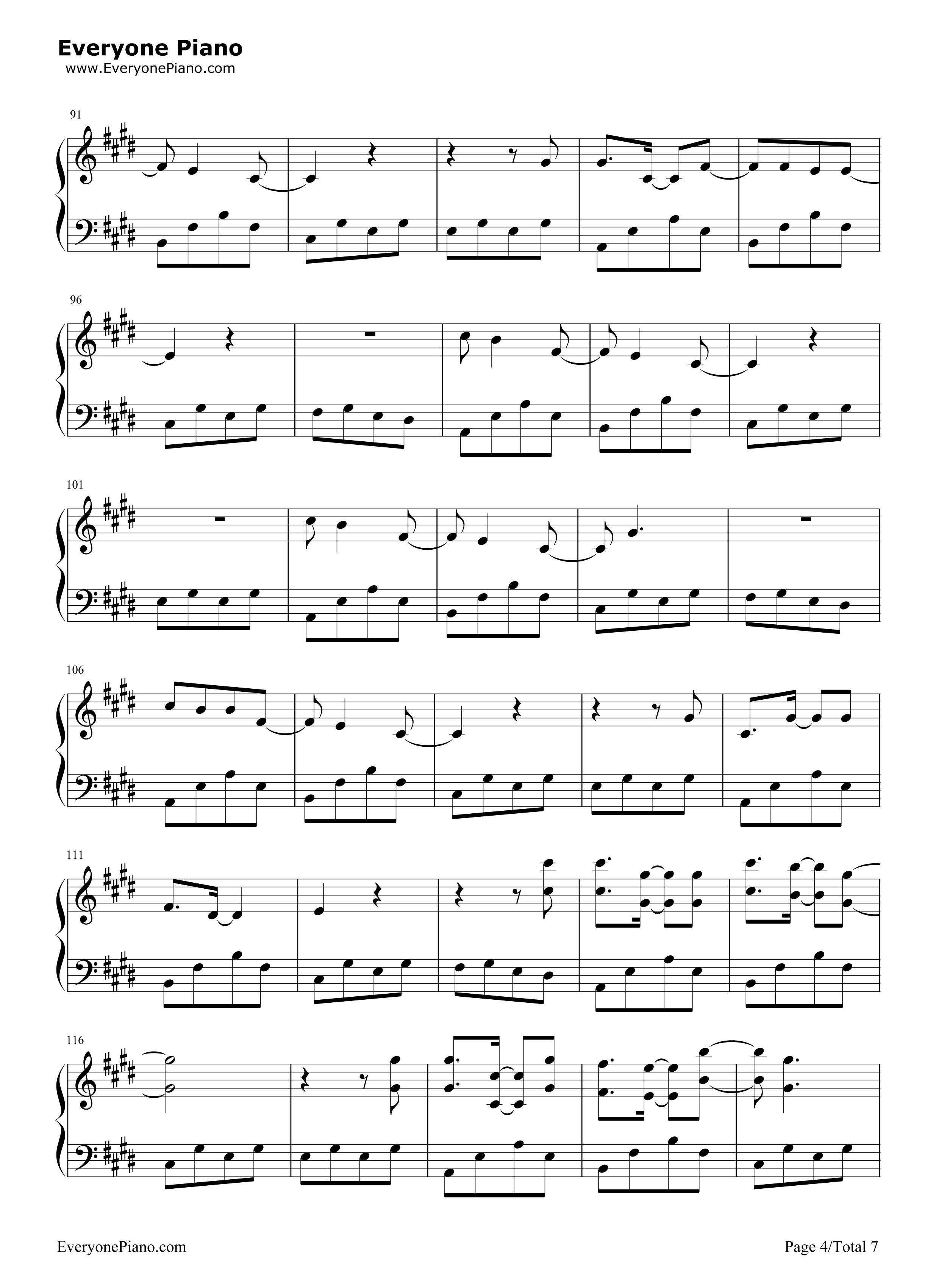 背过手-薛之谦五线谱预览4-钢琴谱档(五线谱,双手简谱