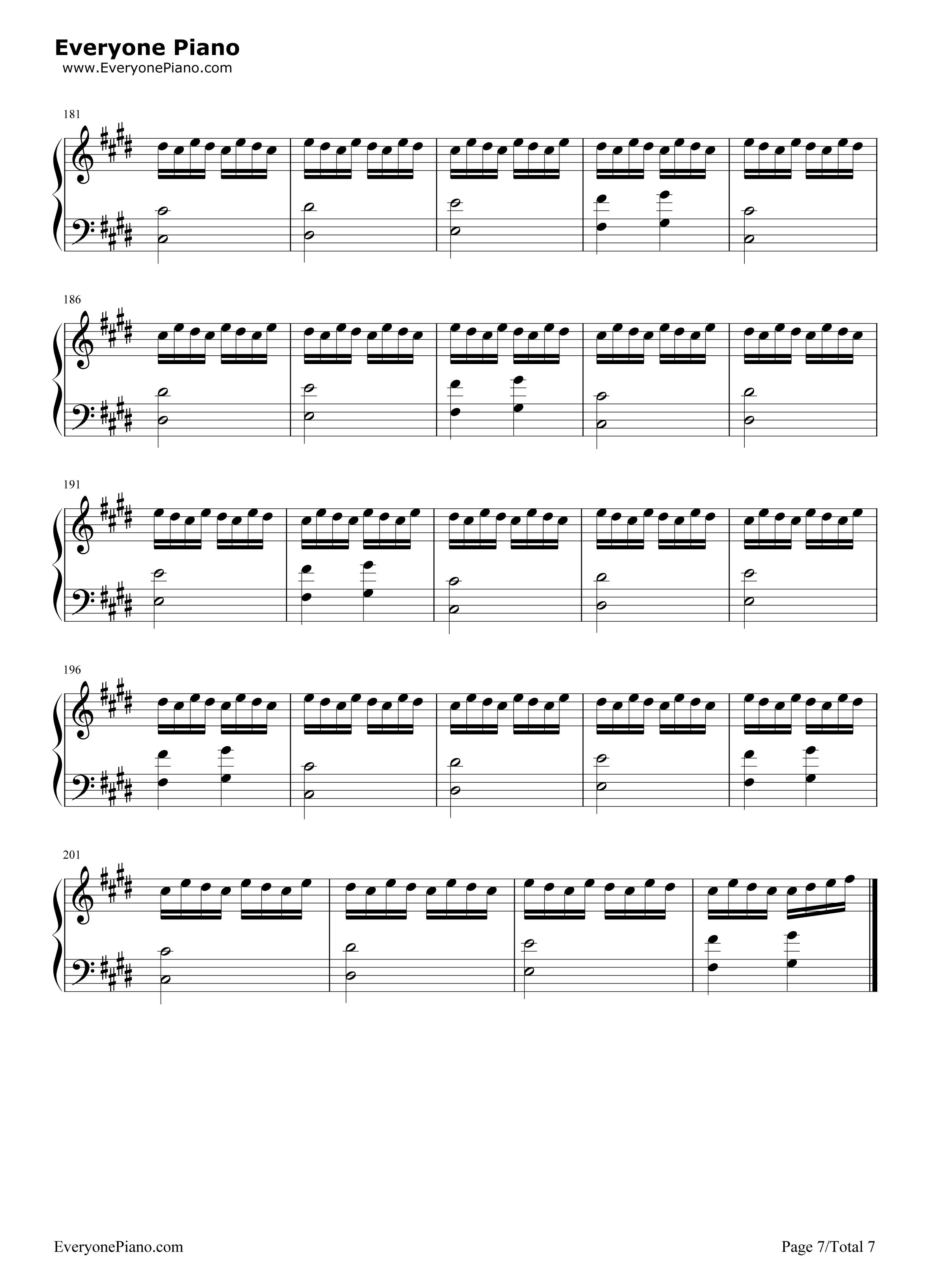 背过手-薛之谦五线谱预览7-钢琴谱档(五线谱,双手简谱