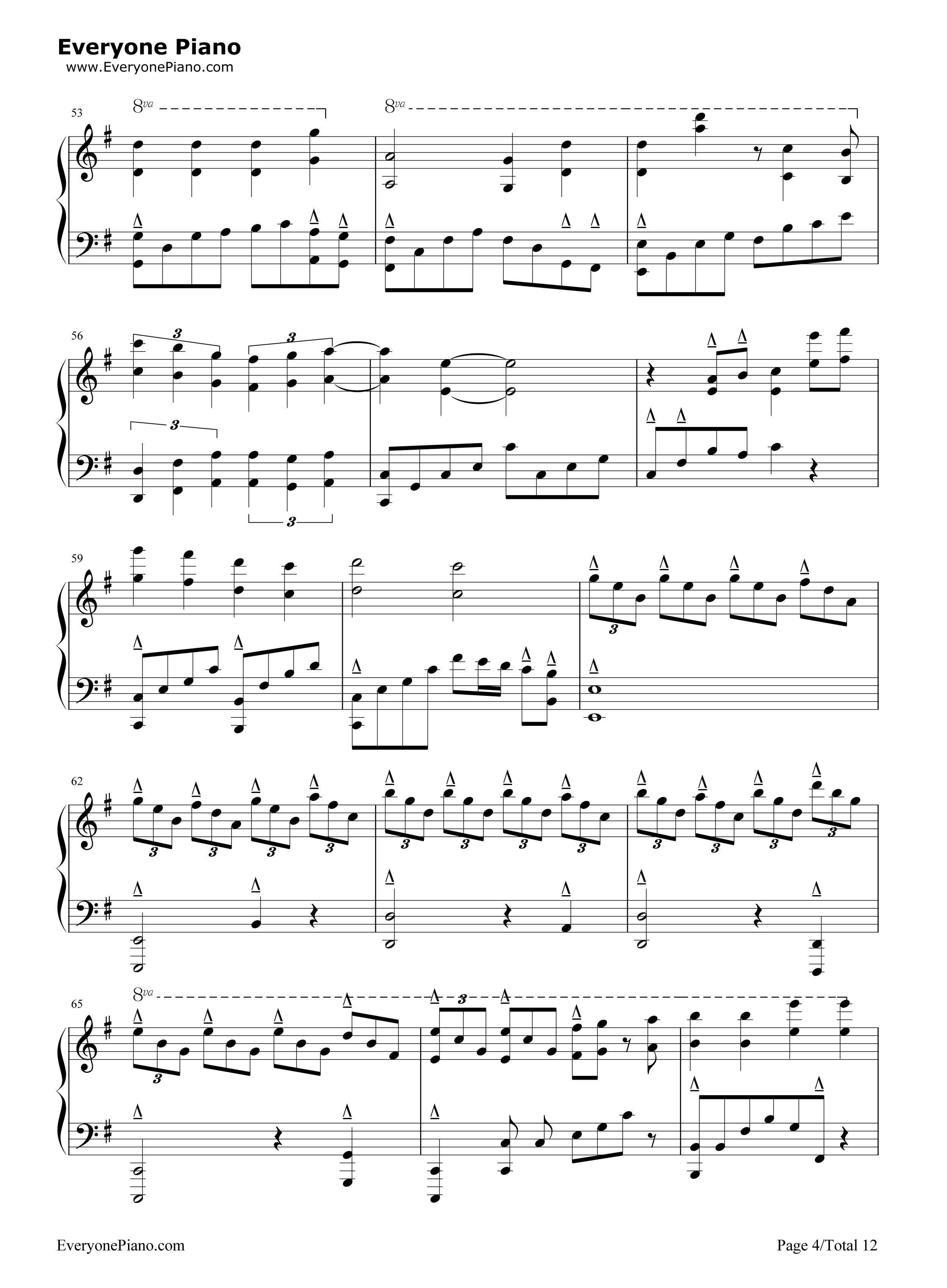 钢琴曲谱 流行 化蝶-何韵诗 化蝶-何韵诗五线谱预览4