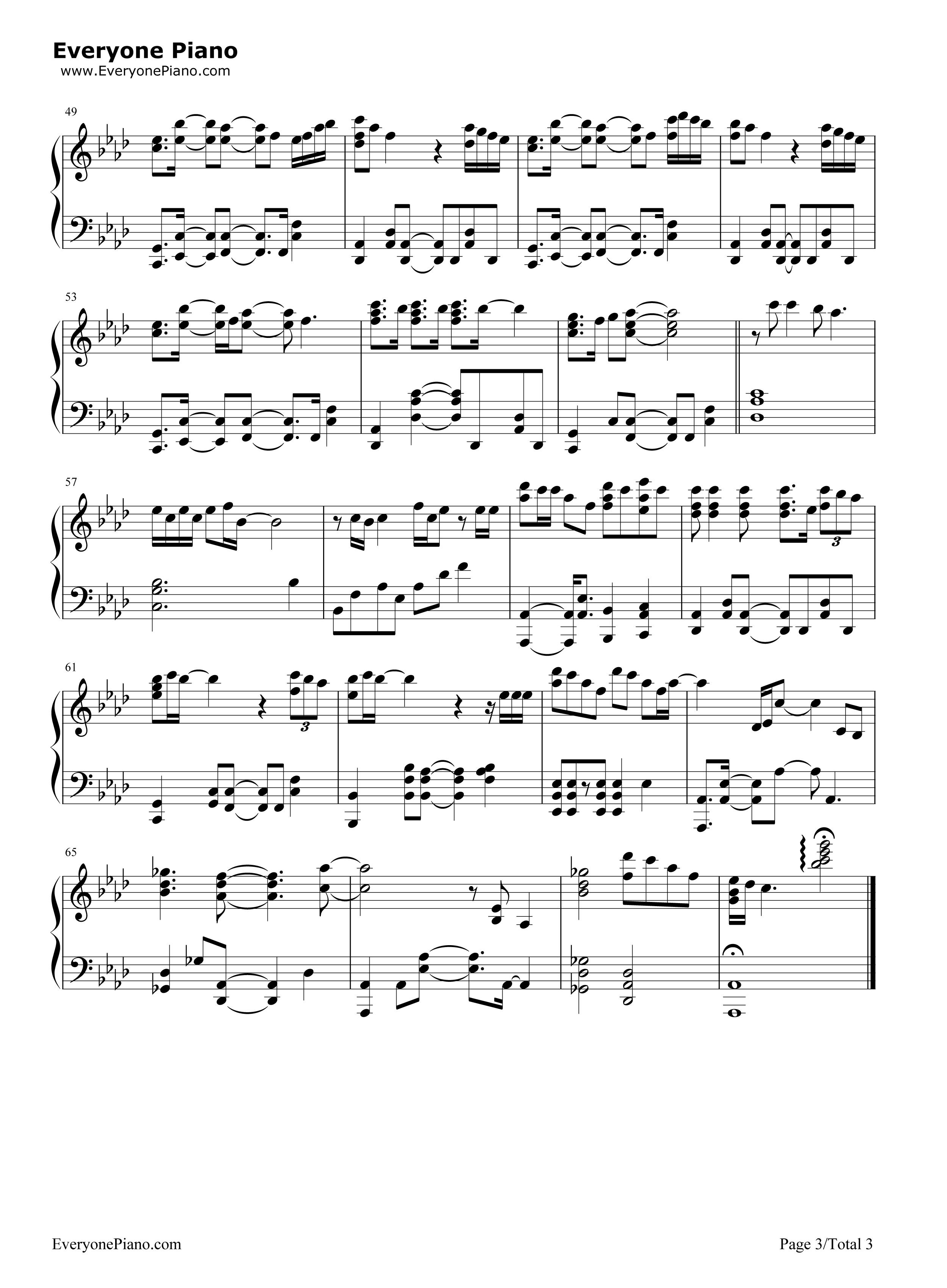 rain-金泰妍五线谱预览3-钢琴谱档(五线谱,双手简谱