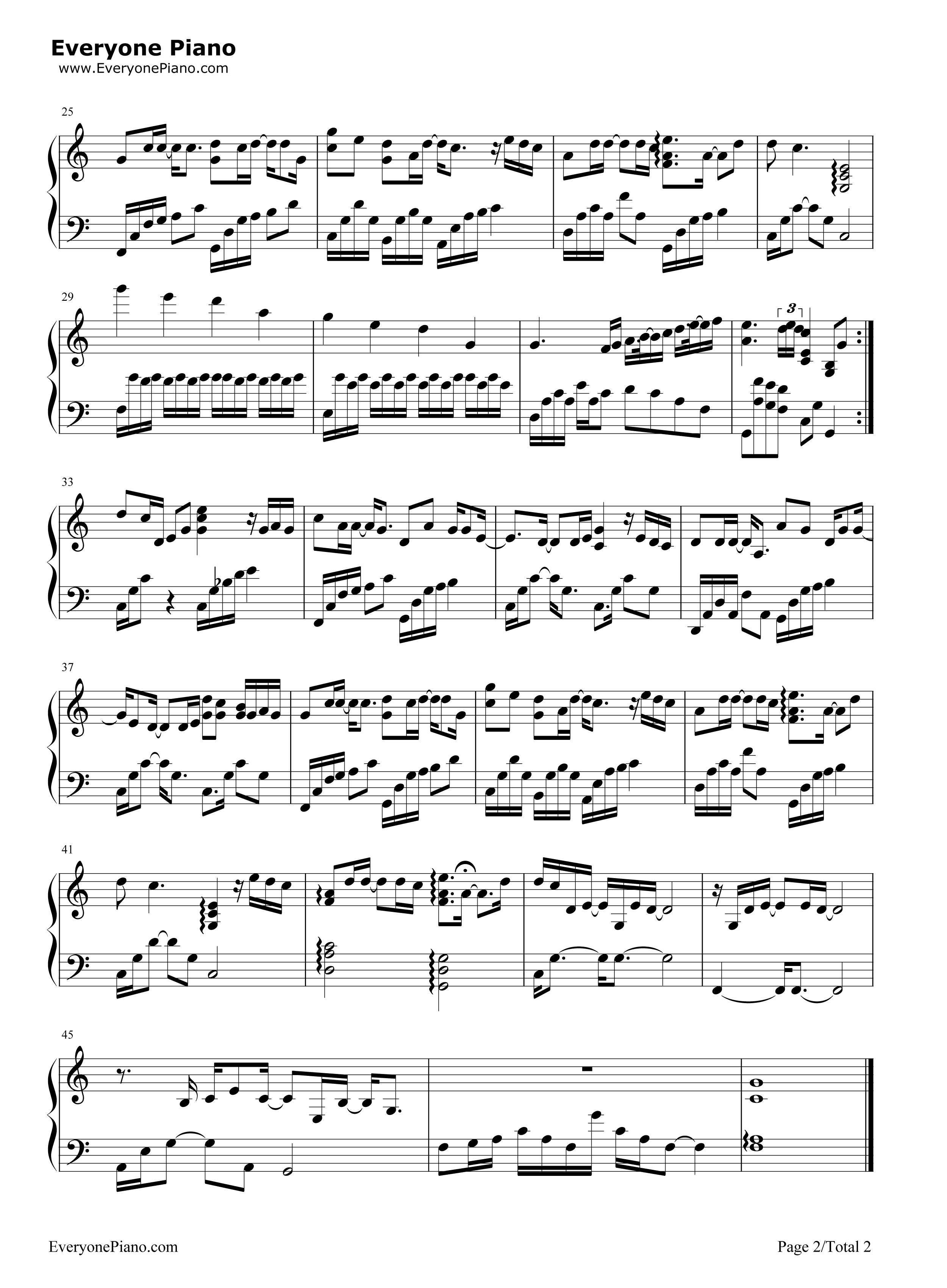 钢琴曲谱 流行 骄傲-王源 骄傲-王源五线谱预览2  }  仅供学习交流