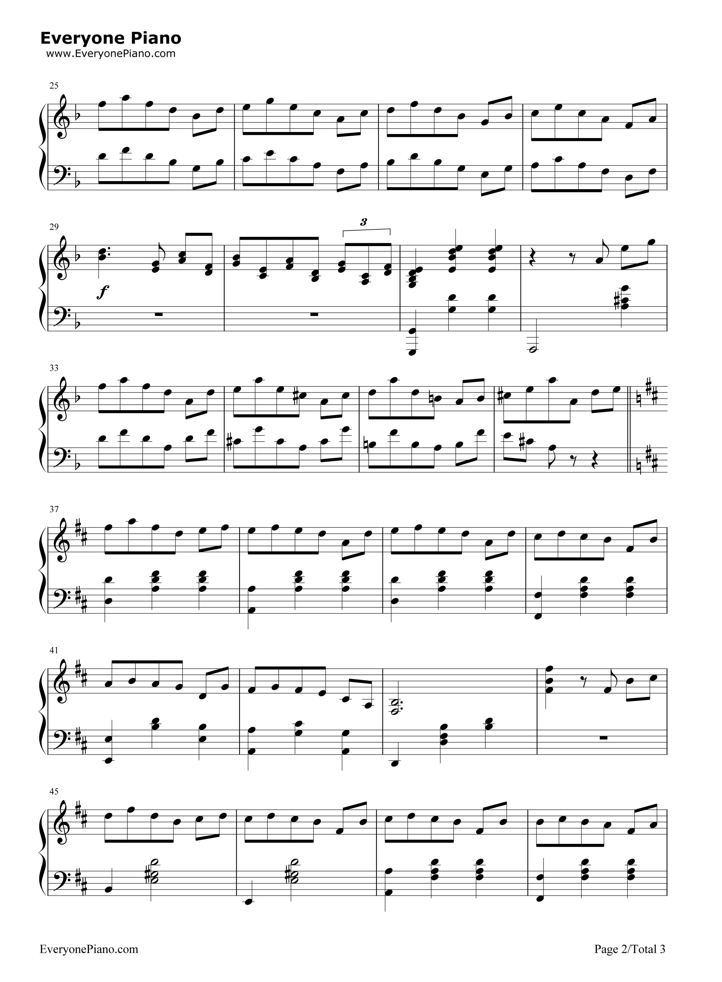 小圆舞曲-西贝柳斯五线谱预览2