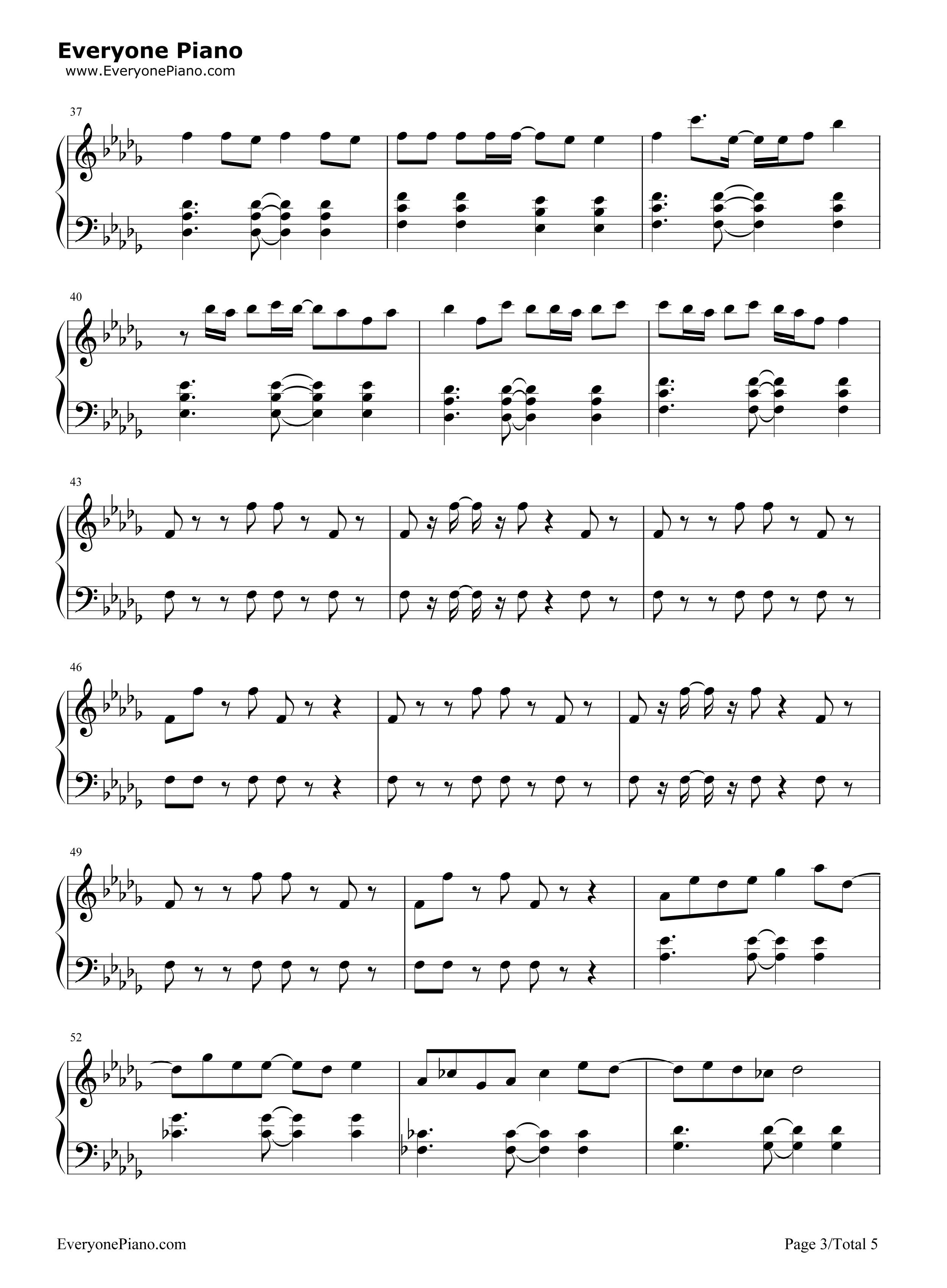 小棋童-双笙五线谱预览3-钢琴谱档(五线谱,双手简谱