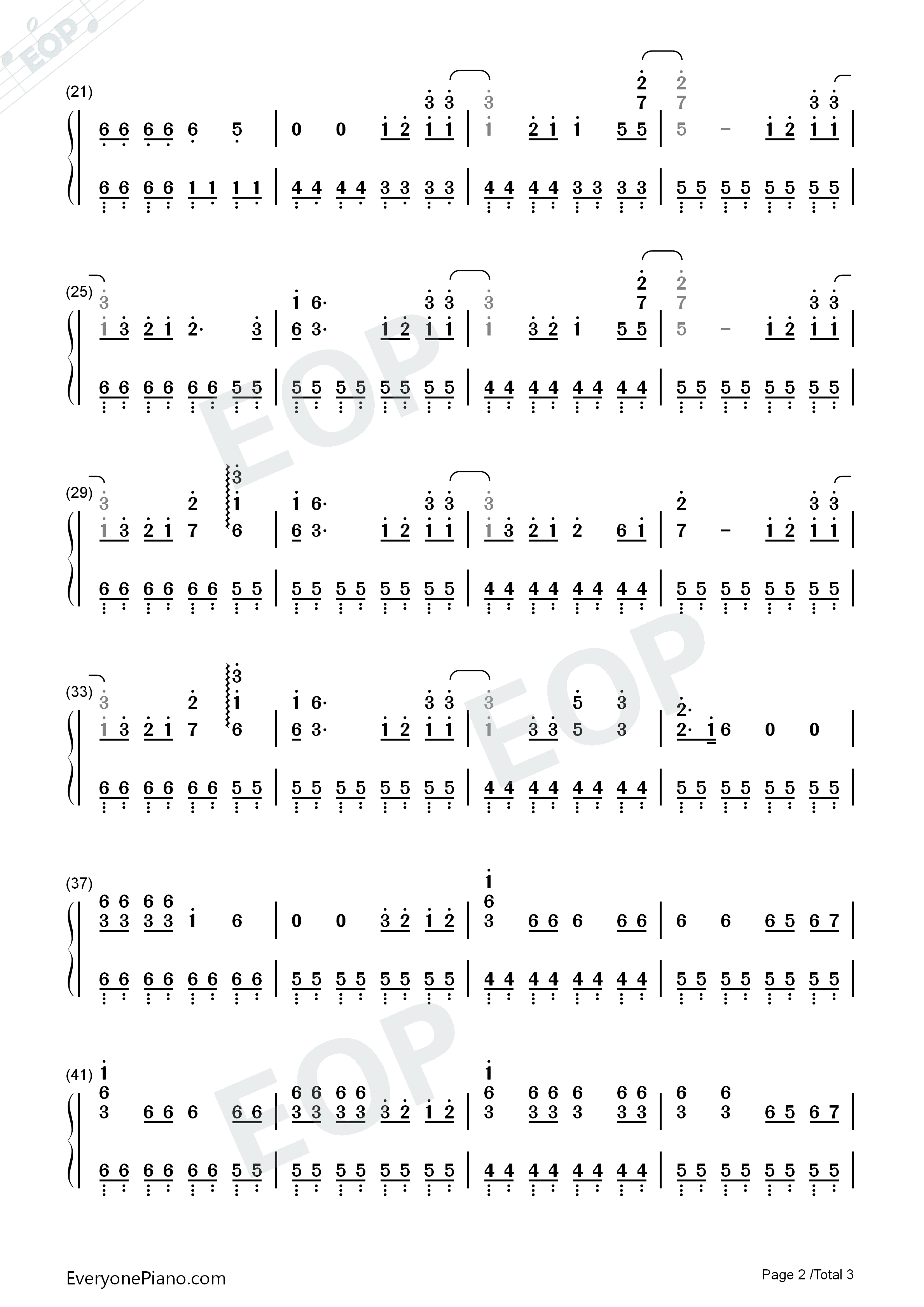 98k之歌-handclap-极简好听-抖音爆火双手简谱预览