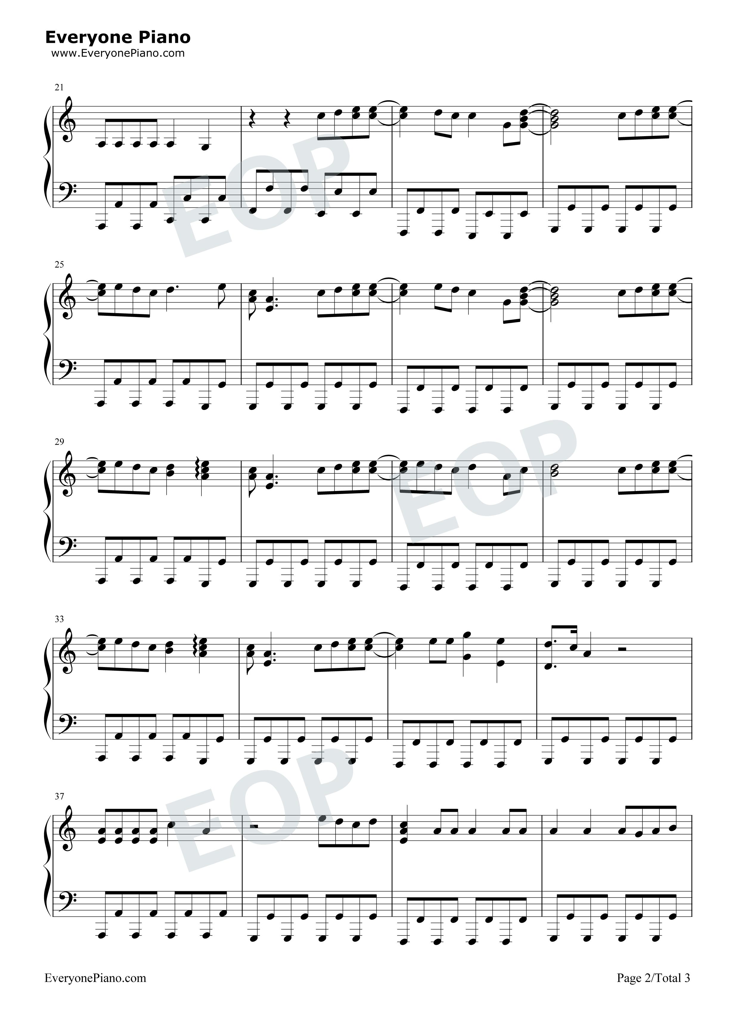 钢琴曲谱 流行 98k之歌-handclap-极简好听-抖音爆火 98k之歌-hand