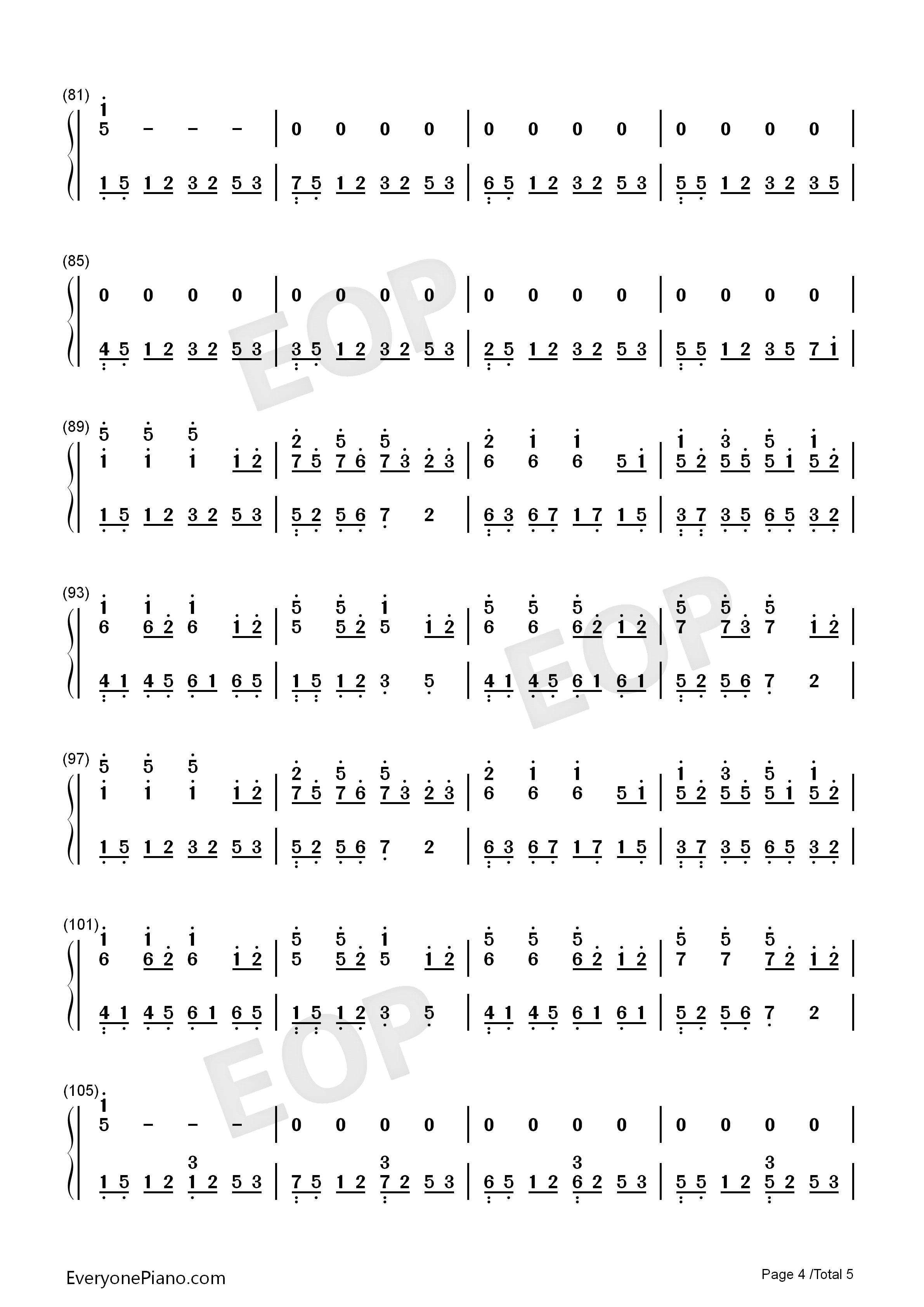 八辈子-甜美的旋律温暖的歌词双手简谱预览