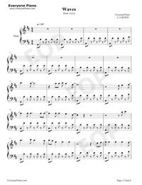 waves dean lewis piano sheet music pdf